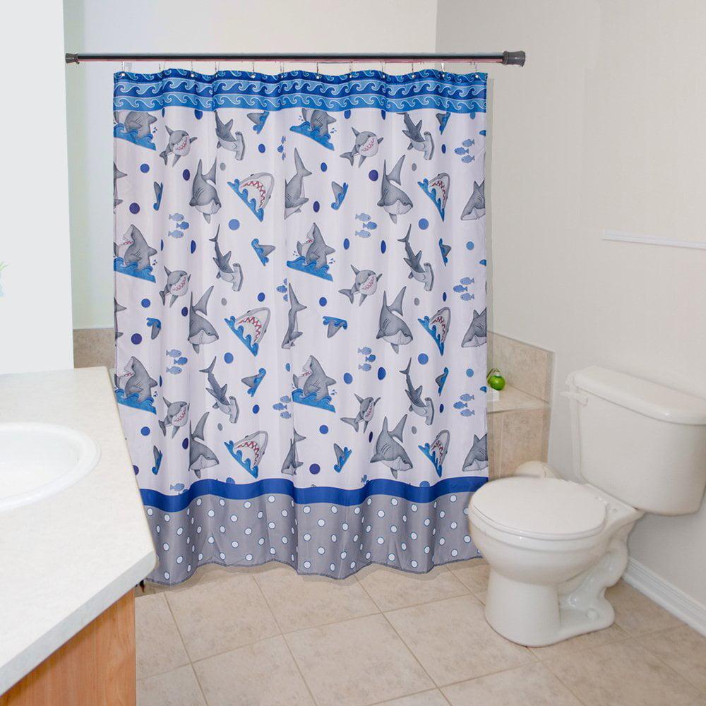 Fish N Sharks Mini Polka Dot Shower Curtain
