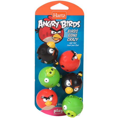 Hartz Angry Birds Birds Gone Crazy Cat Toy, 1ct (Character May Vary)