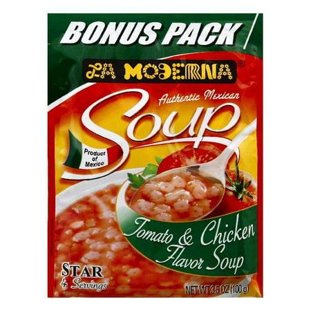 Tomato Chicken Parmesan (La Moderna Bonus Pack Tomato & Chicken Flavor Soup, 3.5 OZ (Pack of 12) )