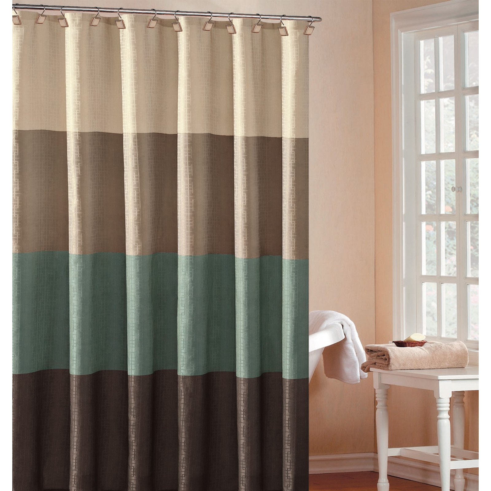 Duck River Hamption Hotel Block Shower Curtain