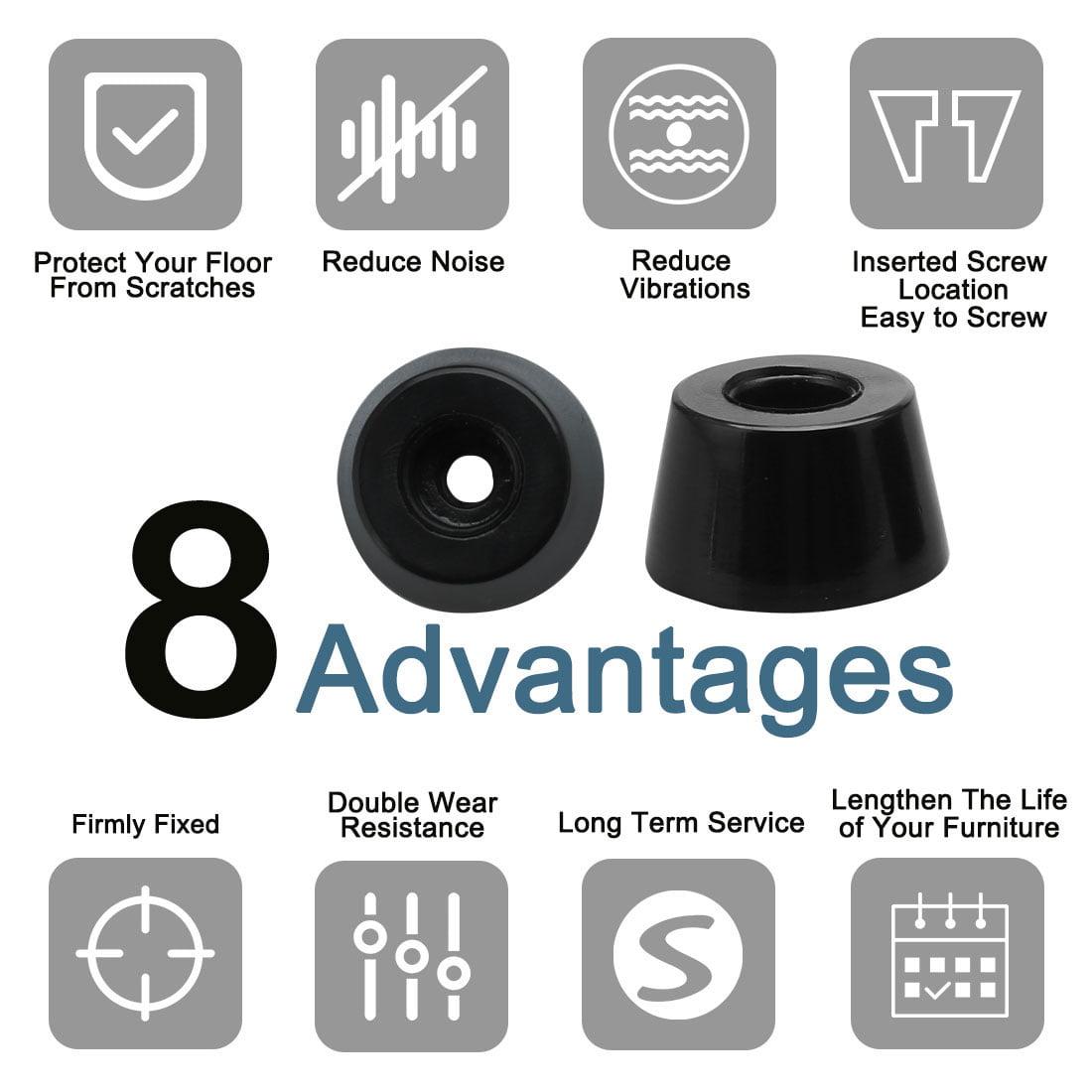 55pcs Rubber Feet Bumper Cabinet Amplifier Speaker Desk Leg Pads, D21x17xH12mm - image 5 de 7