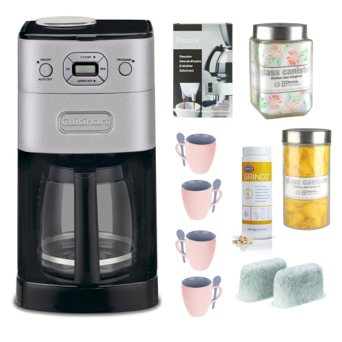 Cuisinart DGB-650BC Refurbished Grind-and-Brew Thermal 10-Cup Coffeemaker plus Coffeemaker Bundle