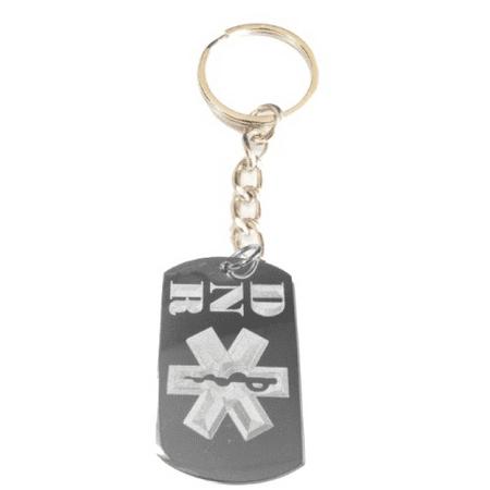 Medical Emergency DNR Do Not Resuscitate Logo Symbol - Metal Ring Key Chain