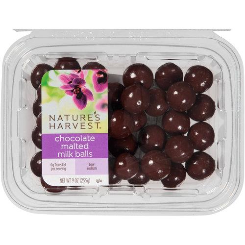 Nature's Harvest Chocolate Malted Milk Balls, 9 oz