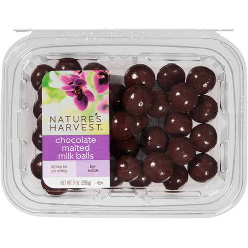 Nature's Harvest Chocolate Malted Milk Balls, 9 oz