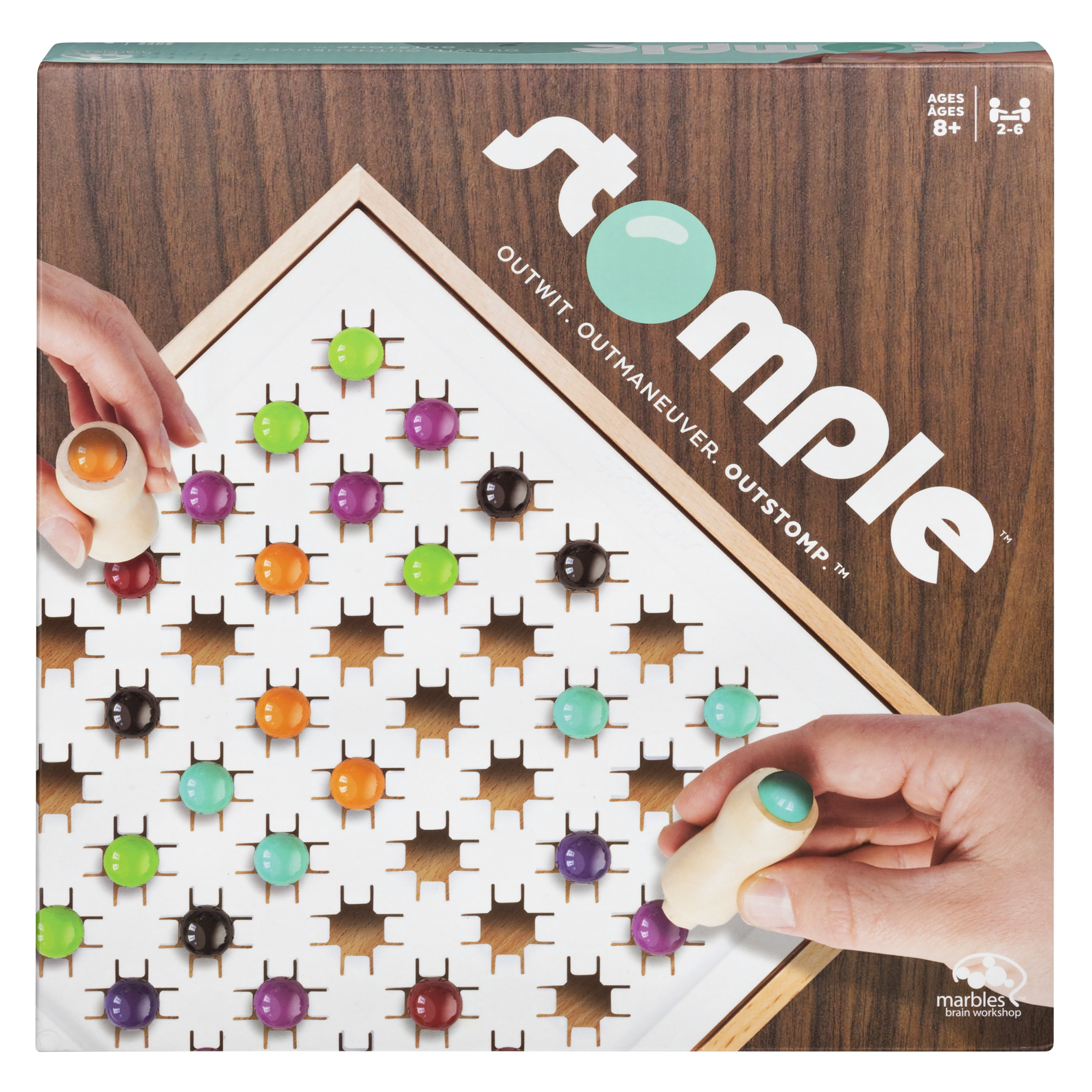 Stomple Game by Marbles Brain Workshop, Fun Strategy Game for Kids Aged 8 and Up