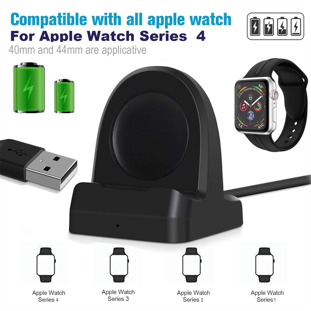 Wireless Charger Charging Dock Stand Holder For Apple Watch Series 4 40/44mm