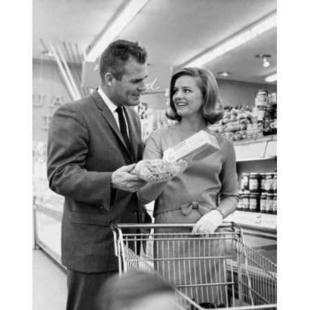 Mid adult couple shopping in a store Canvas Art -  (24 x 36)](Adults Shopping)