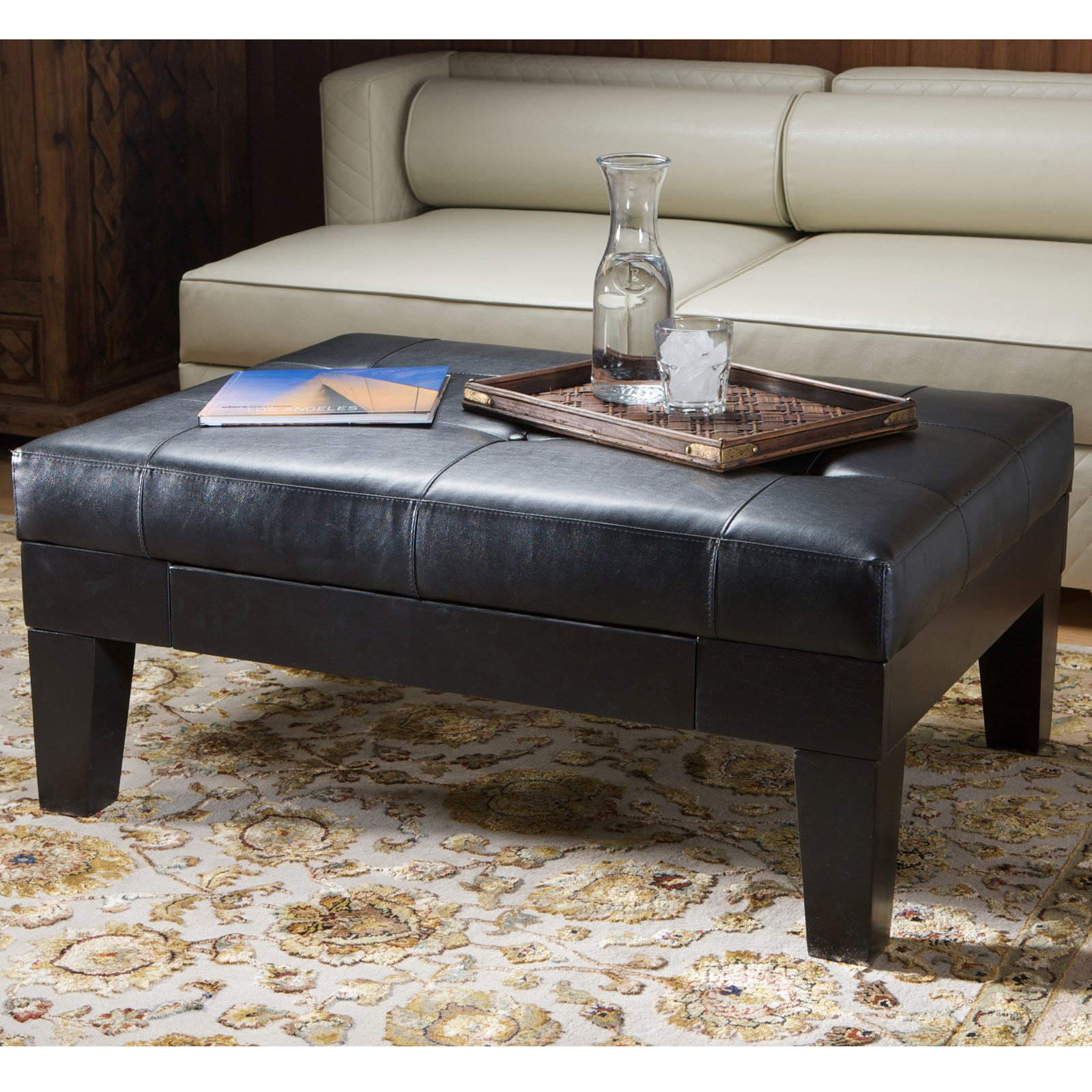 Chatham Leather Storage Ottoman