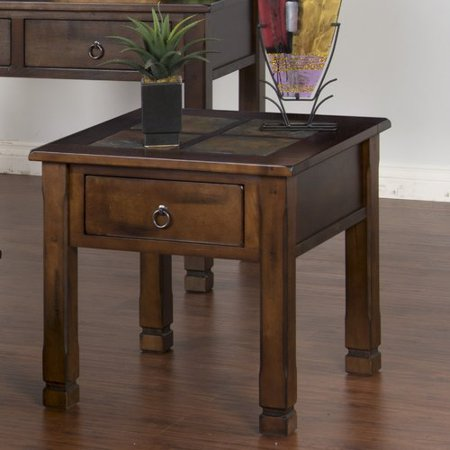 Loon Peak Fresno End Table (Round Table Pizza Fresno)