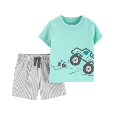 Short sleeve t-shirt and shorts, 2 pc set (baby (Best Post Baby Clothes)