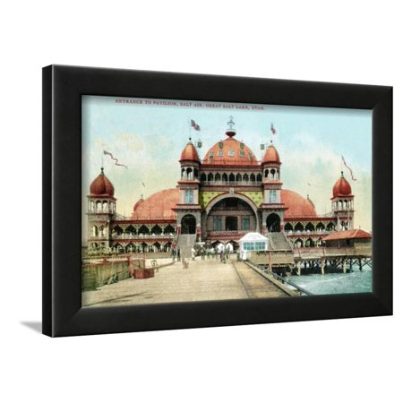 Utah, Entrance View of the Saltair Pavilion at the Great Salt Lake Framed Print Wall Art By Lantern