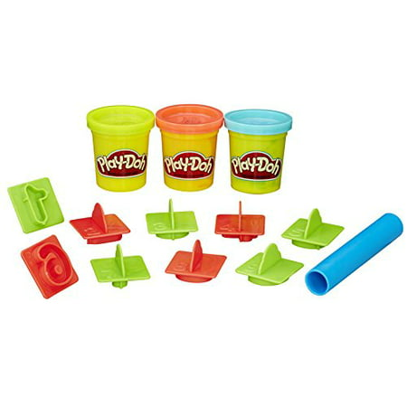 Play-Doh Numbers Bucket Set with 3 Cans of Dough, 10+ Tools & Storage Bucket
