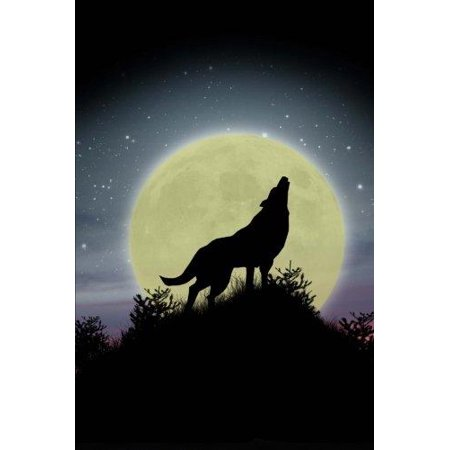 Howling at the Moon Wolf Journal: 150 Page Lined (One Little Coyote Howling At The Moon)