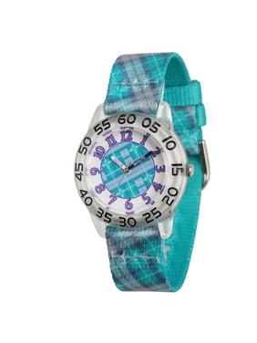 Girls' Clear Plastic Time Teacher Watch, 1-Pack
