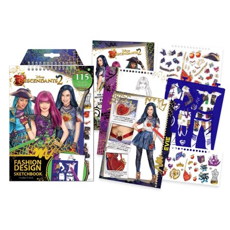 Disney Descendants 2, Fashion Design Sketchbook, Kids Design