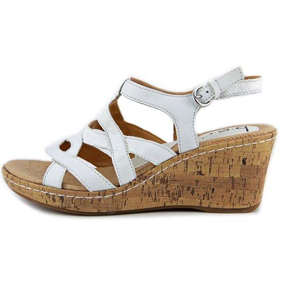 7dd1faba183 b.o.c. - B.O.C. Chyna Open Toe Leather Wedge Sandal - Walmart.com