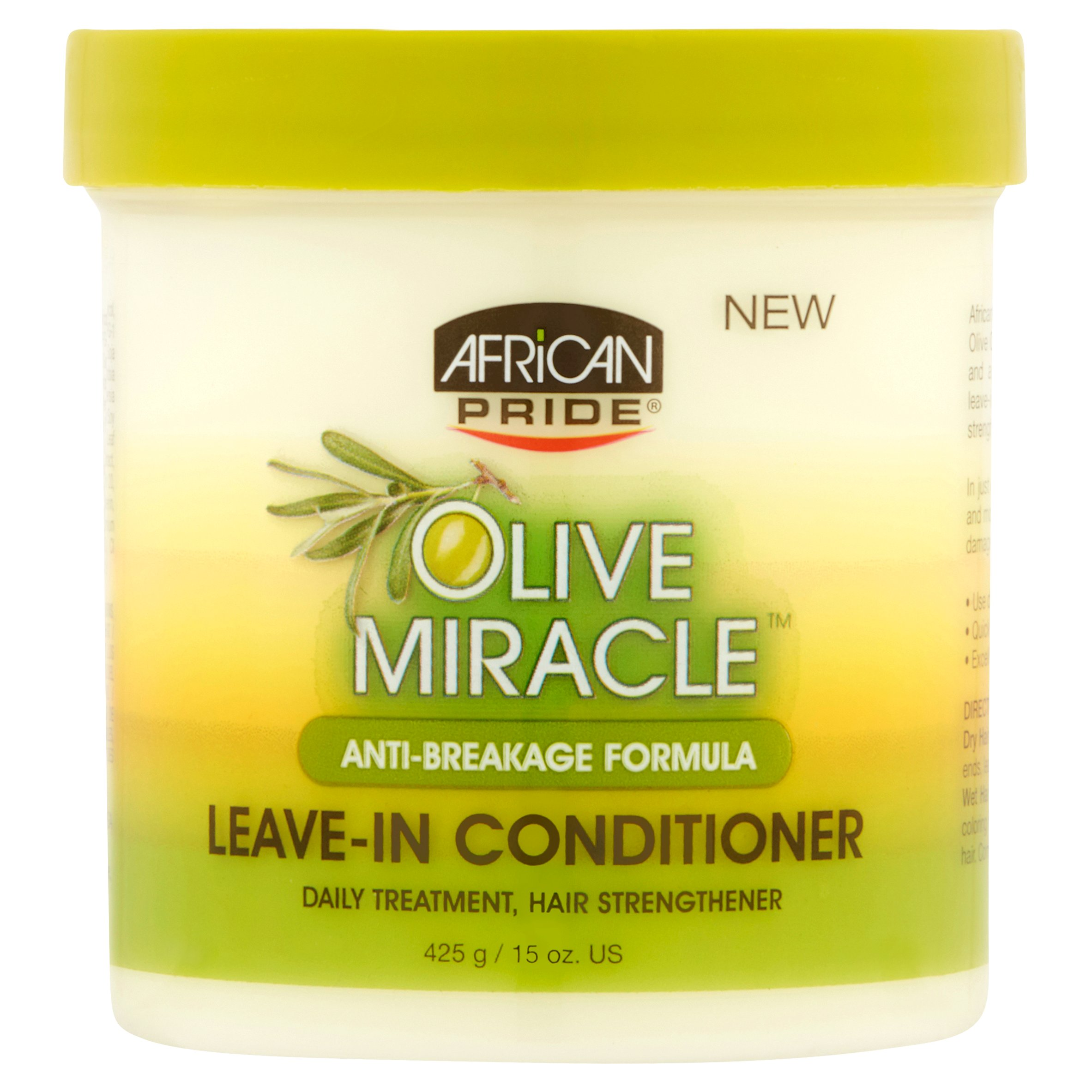 African Pride Olive Miracle Anti-Breakage Formula Leave-In Conditioner 15 oz. Jar