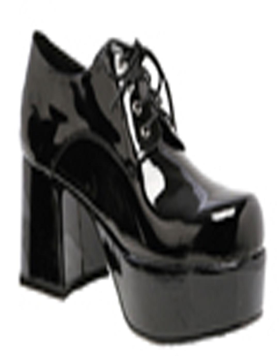 Shoe Platform Blk Pat Men Lg | Walmart