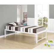 39 twin size white metal day bed frame with rails slats twin daybed