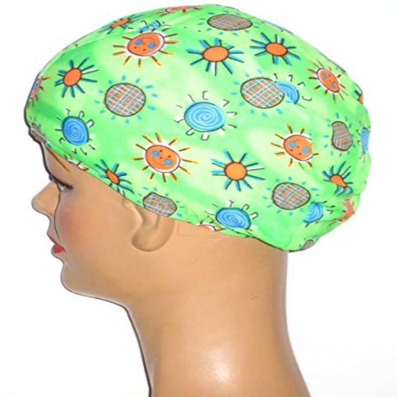 Toddler Green Sunshine Lycra Swim Cap