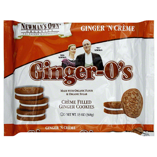Newman's Own Organics Ginger-O's Ginger 'N Creme Cookies, 13 oz (Pack of 6)