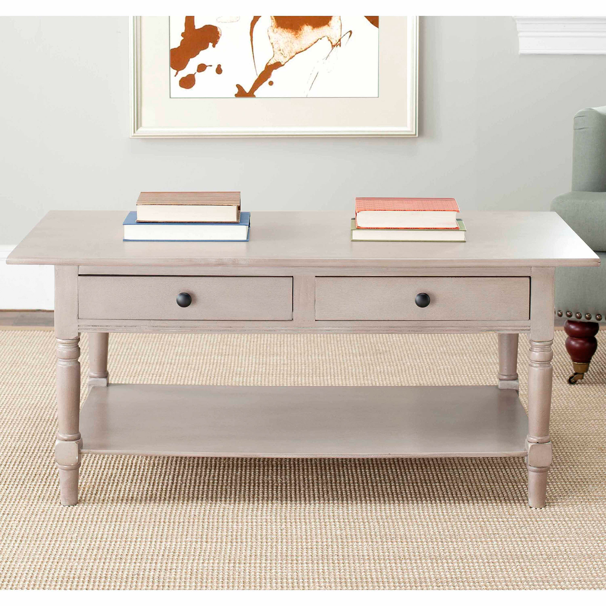 Safavieh Boris 2 Drawer Coffee Table, Multiple Colors