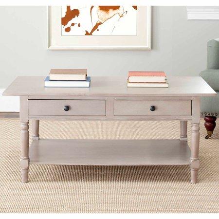 Safavieh Boris 2 Drawer Coffee Table Multiple Colors