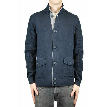 Ccc Canterbury Of New Zealand Mood Indigo Button Up Cardigan Sweater Sz Xl