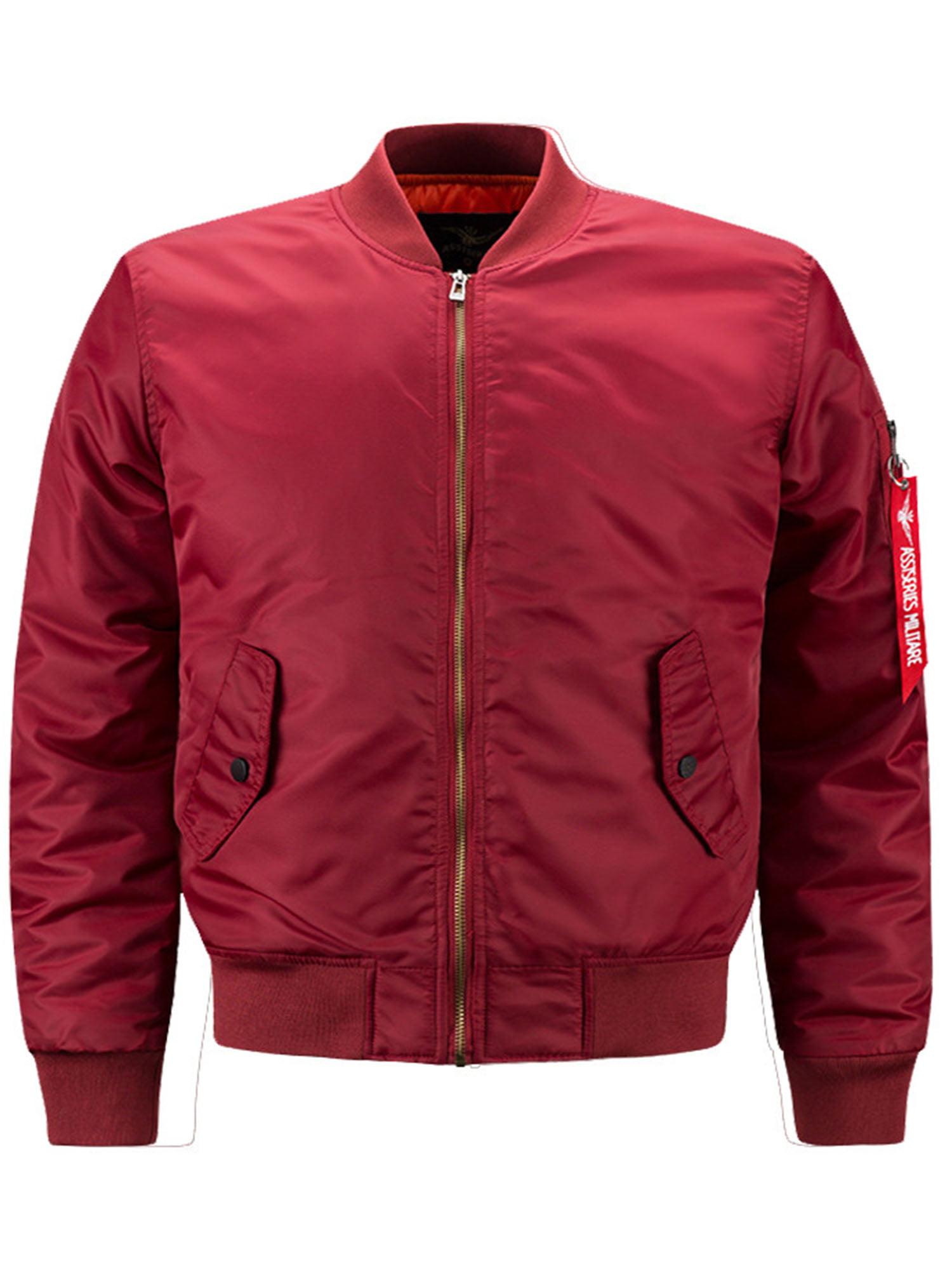 Tops Coat Long Sleeve Baseball Jacket Slim Fit Casual Mens Zipper Black Outwear