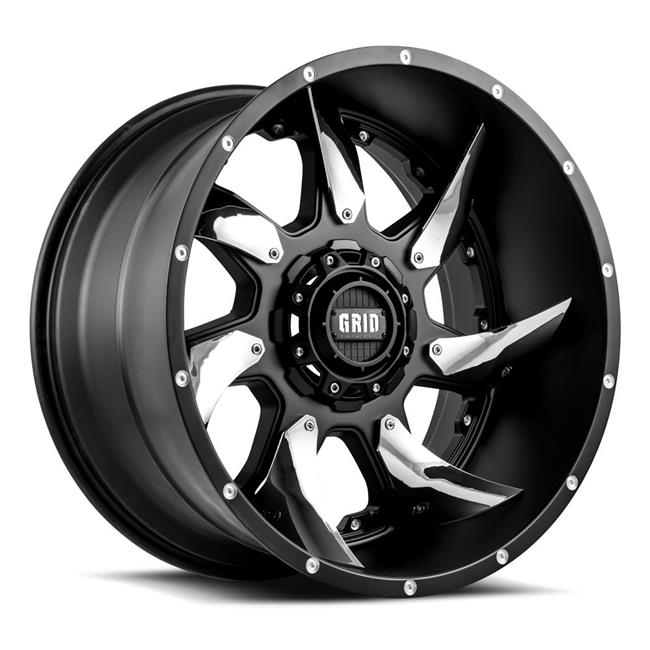 22 x 12 in. Matte Black with Chrome Plated Inserts Wheel - image 1 de 1