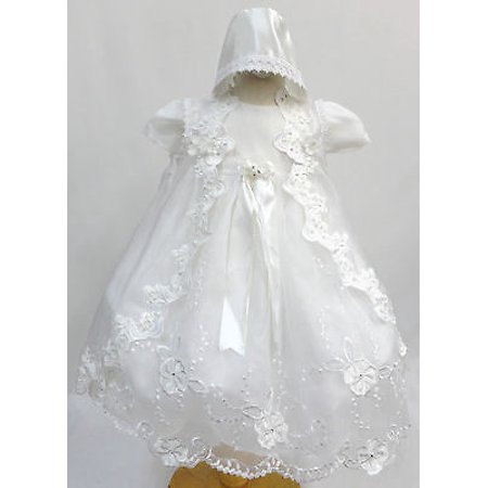 Infant Baby Girl Christening Baptism Dress Gown Size 01234 (0-30M)  White (Next Christening Dresses)