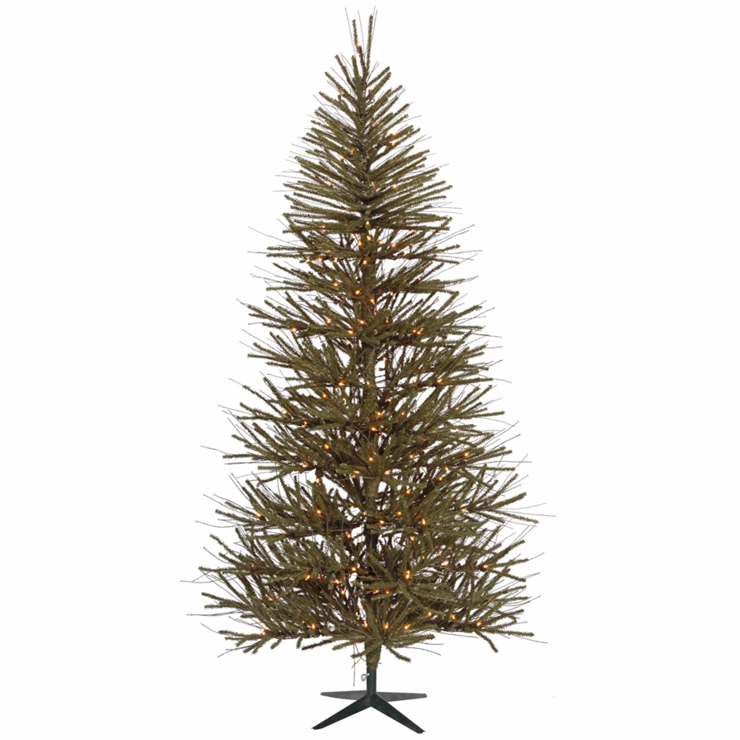 8' Pre-Lit Slim Vienna Twig Artificial Christmas Tree - Clear Lights
