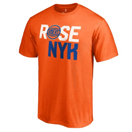Derrick Rose New York Knicks By-Line T-Shirt - Orange