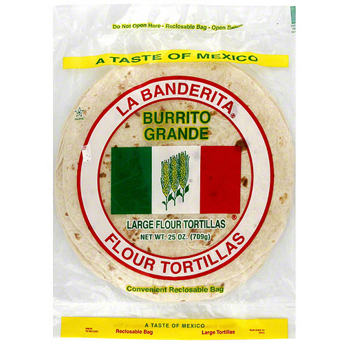 La Banderita Extra Large Flour Tortillas, 25 oz (Pack of 12)