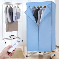 Finether Electric Clothes Dryer Rack, Portable Wardrobe Rolling Drying Rack Electric Clothes Hanging Dryer Machine Clothes Heater Remote Control