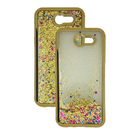 Rebel Floating - For LG Rebel 3 (Tracfone) Phone, Glitter Liquid Clear TPU Case (Gold)