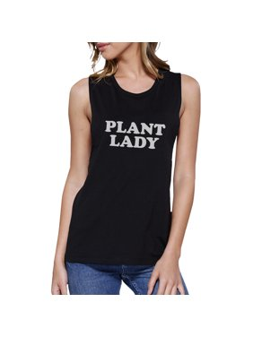 cf7f5c010db9f Product Image Plant Lady Black Muscle Top Funny Letter Printed Tanks Gift  For Mom