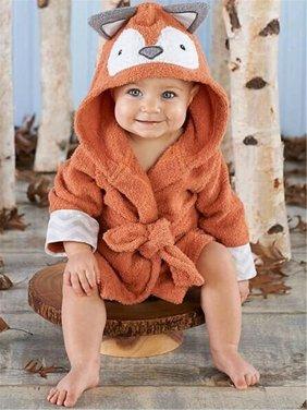 Newborn Boy Girl Animal Bathrobe Baby Hooded Bath Towel Infant Belt Bathing Blanket Hooded Cosplay Pajamas
