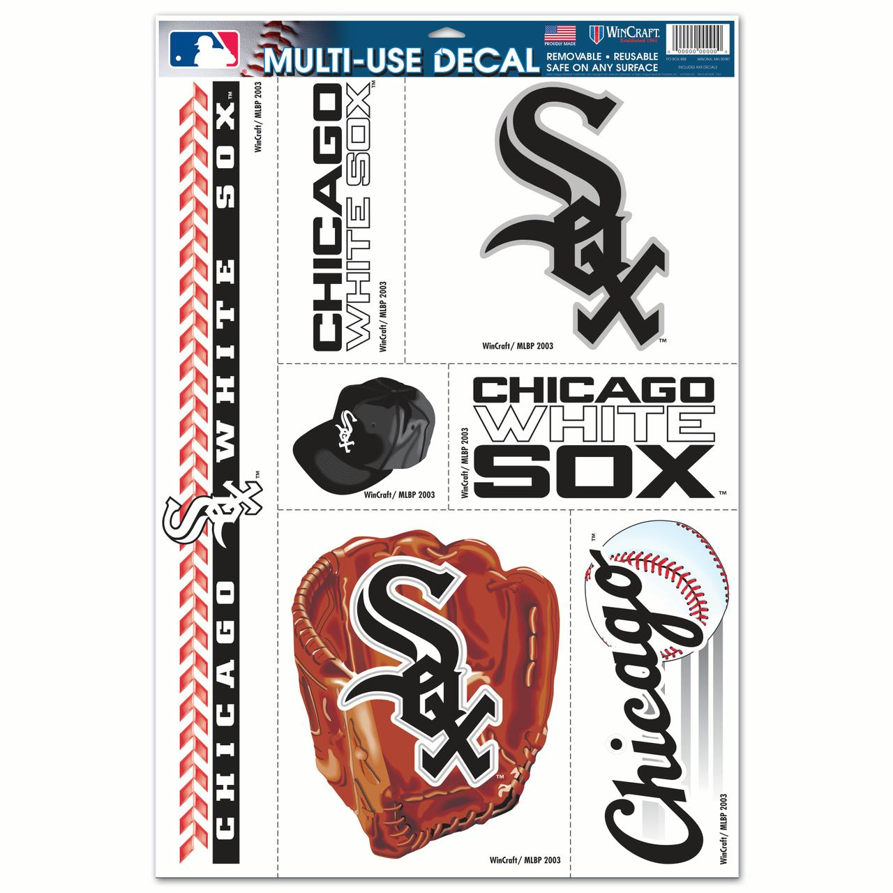 "Chicago White Sox WinCraft 7-Piece 11"" x 17"" Multi-Use Decal Sheet - No Size"