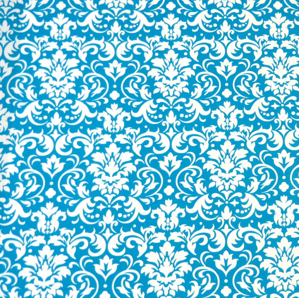SheetWorld Fitted Pack N Play (Graco Square Playard) Sheet - Turquoise Damask