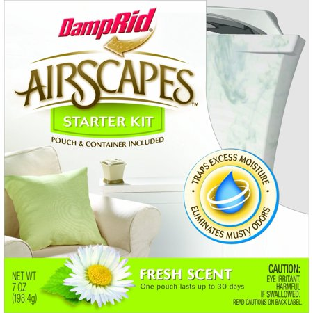 - AS01WMFS Airscapes Dehumidifier Starter Kit, Fresh Scent, Traps excess moisture to eliminate musty odors for fresher cleaner air By DampRid