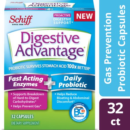 Digestive Advantage Fast Acting Enzymes Plus Daily Probiotic - 32