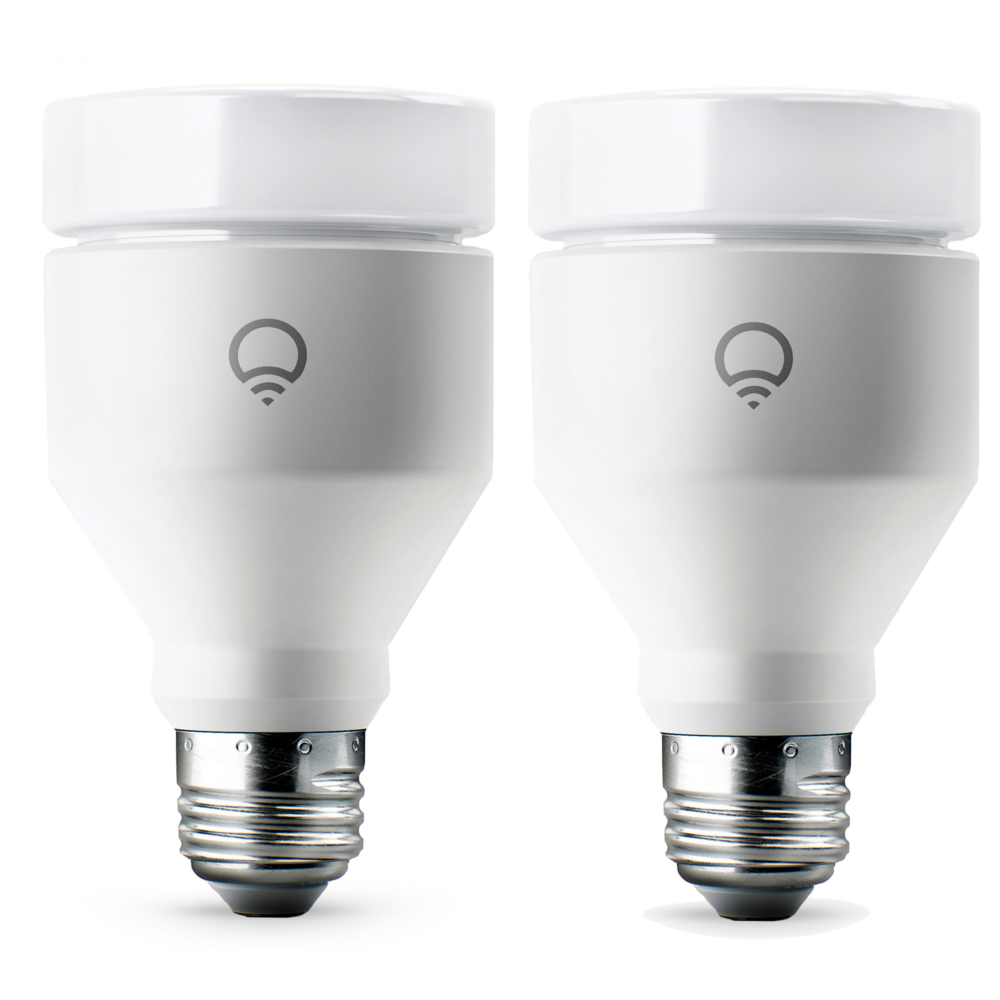 LIFX A19 E26 11W WiFi Smart Dimmable Cool Warm Colored LED Light Bulb (2 Pack)