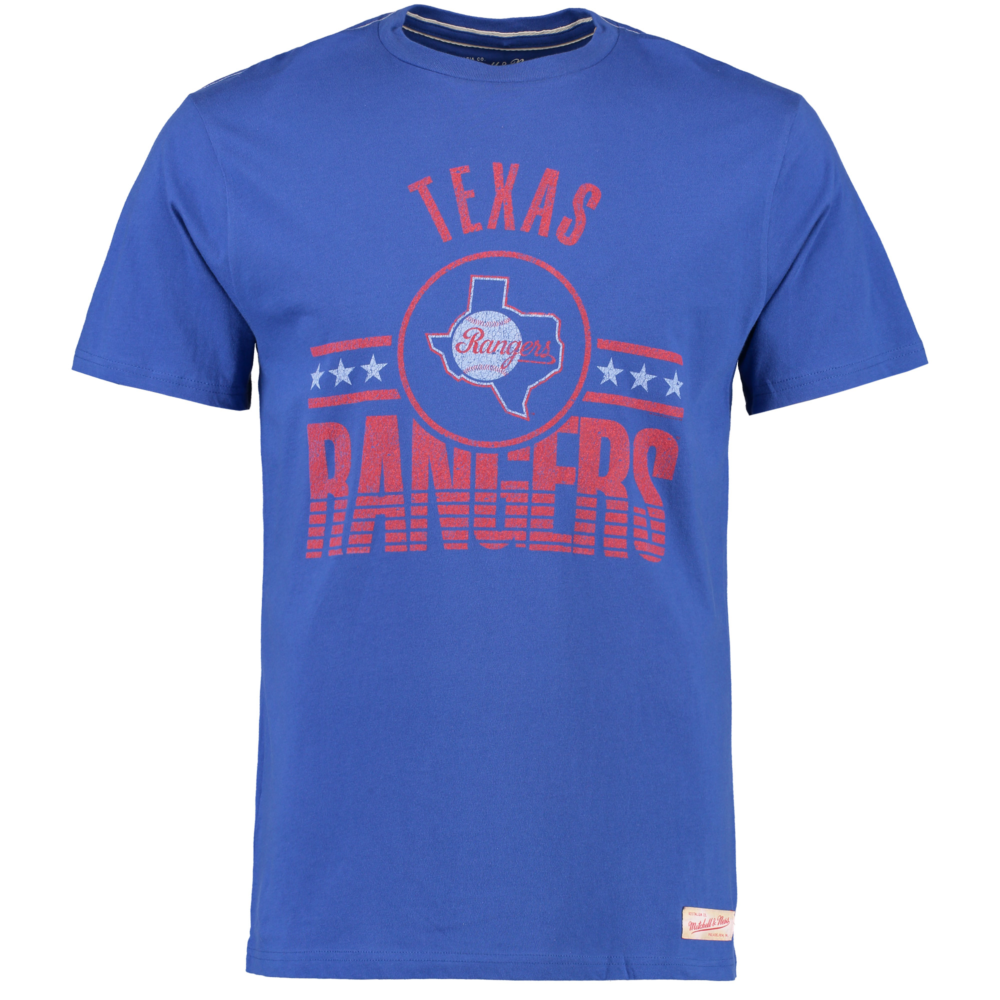 Texas Rangers Mitchell & Ness Tailored Vintage T-Shirt - Royal