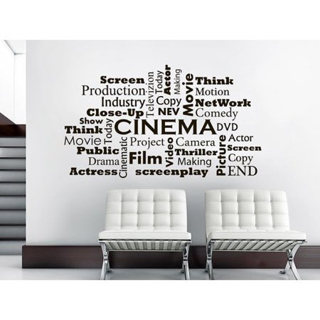 Stickalz Llc Movie Room Cinema Film Words Interior Home Decor