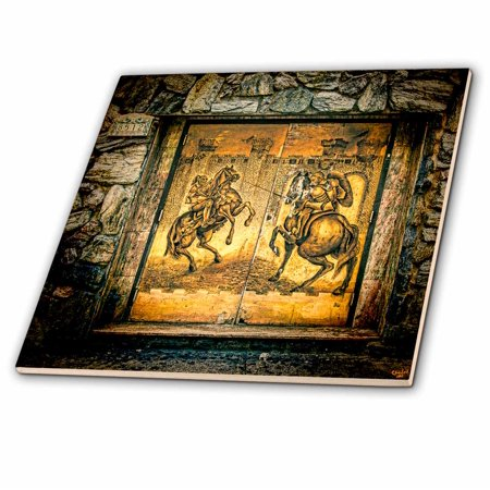 3dRose Queens Doors Spanish Knights - Ceramic Tile, 8-inch ()