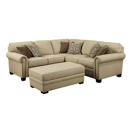 Lacie Sectional With 6 Pillows Right Side Facing Sofa Left Loveseat Color