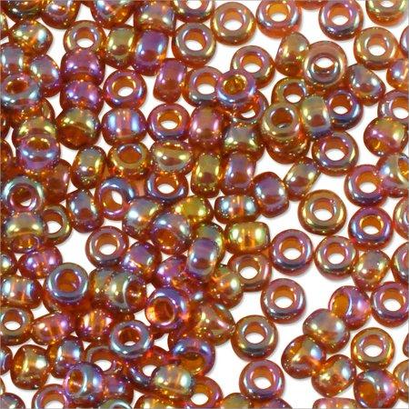 Miyuki Round Rocaille Seed Bead 11/0 Transparent Brown AB (3 Gram (Round N Brown Tube)