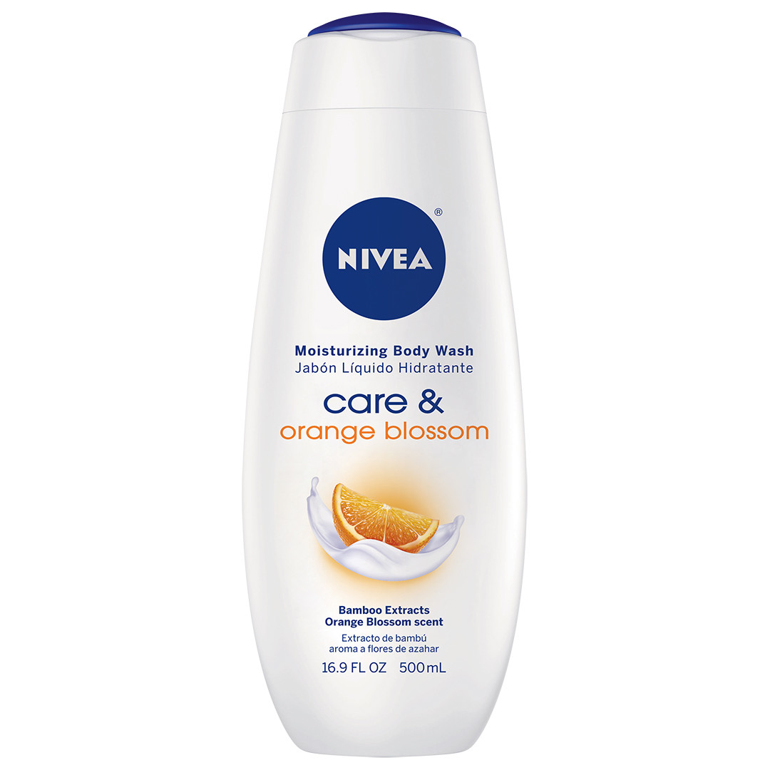 (2 Pack) NIVEA Care and Orange Blossom Moisturizing Body Wash 16.9 fl. oz.